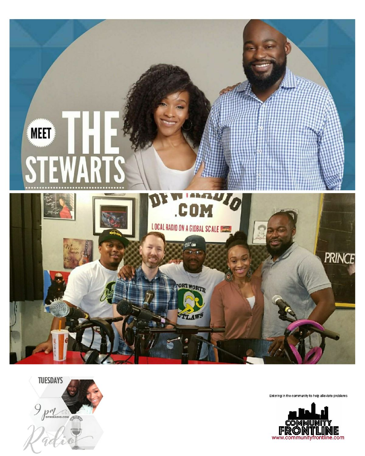 """Meet The Stewarts Reality Radio – LIVE with Community FrontLine """"Why People Don't Want the Church"""""""