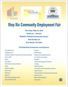 Stop Six Community Employment Fair @ Brighter Outlook Community Center